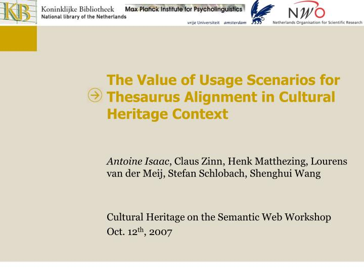 The Value of Usage Scenarios for Thesaurus Alignment in Cultural Heritage Context