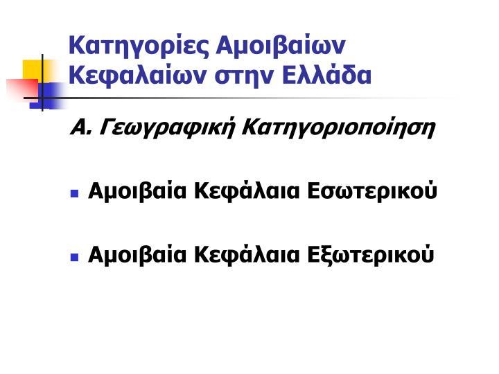 Κατηγορίες Αμοιβαίων Κεφαλαίων στην Ελλάδα