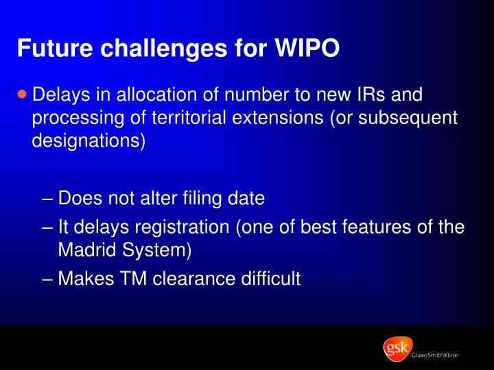 Future challenges for WIPO