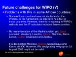future challenges for wipo v