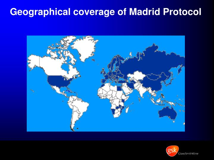 Geographical coverage of Madrid Protocol