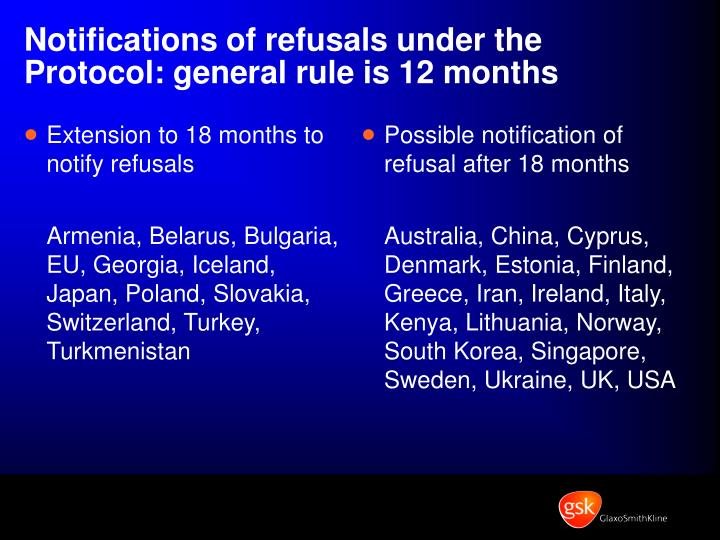 Extension to 18 months to notify refusals