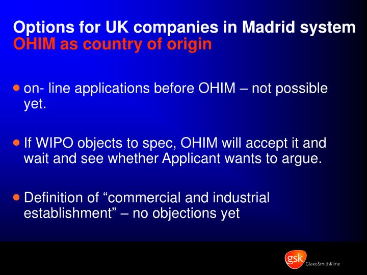Options for UK companies in Madrid system