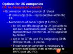 options for uk companies uk as designated country