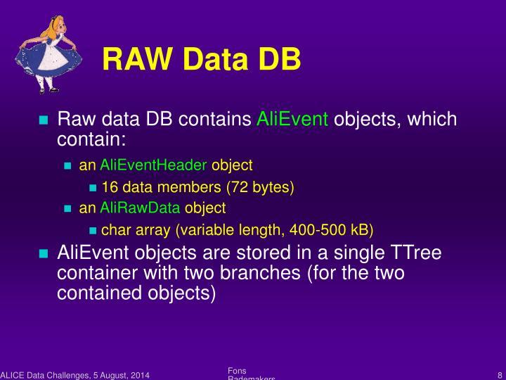 RAW Data DB