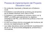 proceso de implementaci n del proyecto educativo local