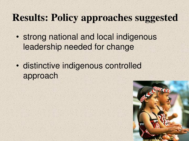 Results: Policy approaches suggested