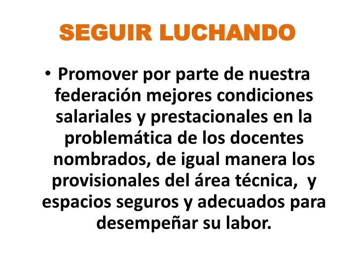 SEGUIR LUCHANDO
