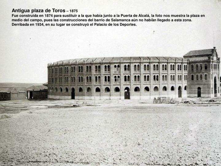 Antigua plaza de Toros