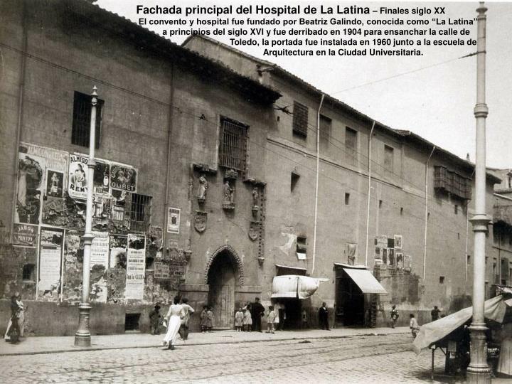 Fachada principal del Hospital de La Latina