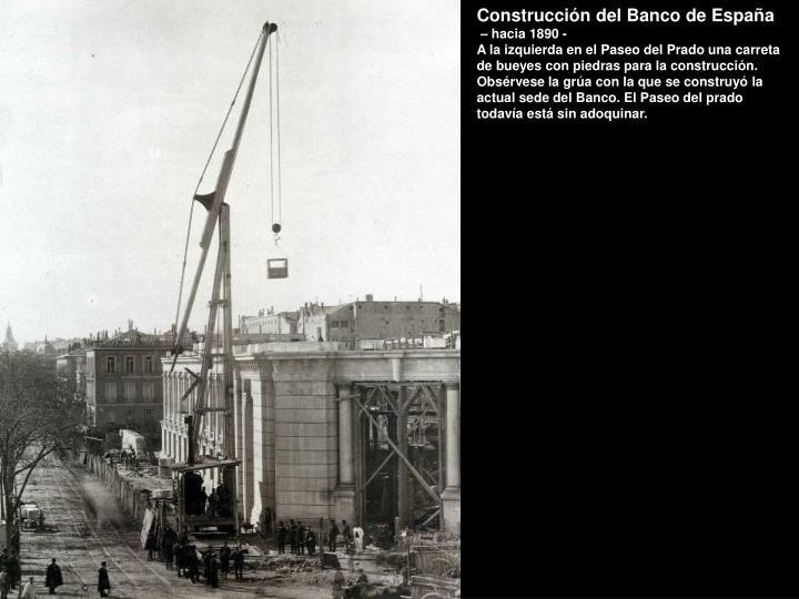 Construcción del Banco de España