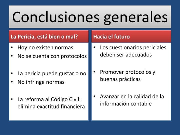 Conclusiones generales