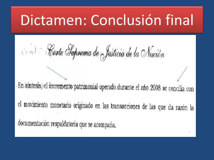Dictamen: Conclusión final