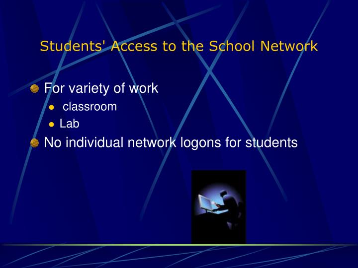 Students' Access to the School Network