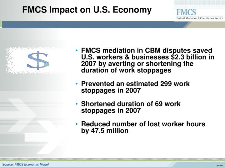 FMCS Impact on U.S. Economy