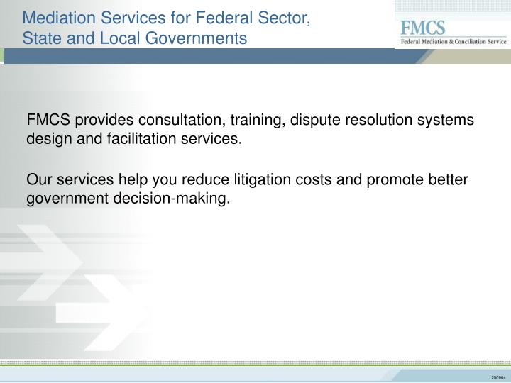 Mediation Services for Federal Sector,
