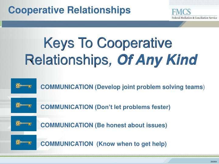 Cooperative Relationships