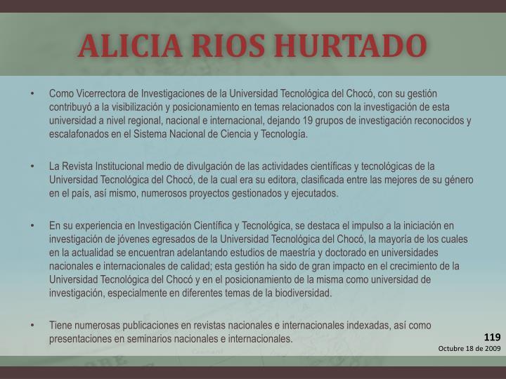 ALICIA RIOS HURTADO