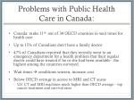 problems with public health care in canada
