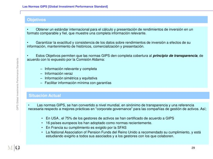 Las Normas GIPS [Global Investment Performance Standard]