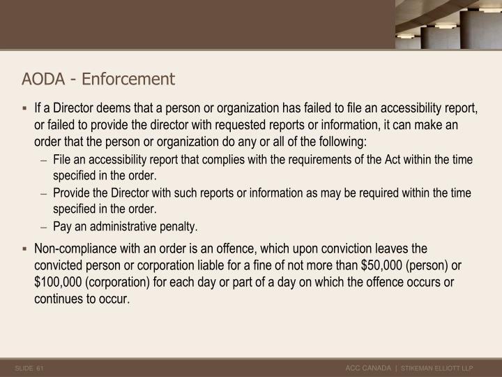 AODA - Enforcement