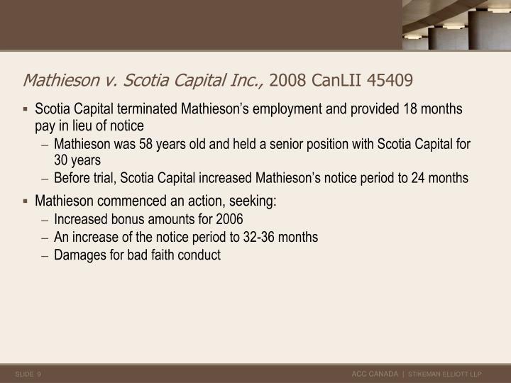 Mathieson v. Scotia Capital Inc.,