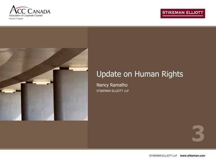 Update on Human Rights