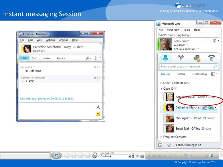 Instant messaging Session
