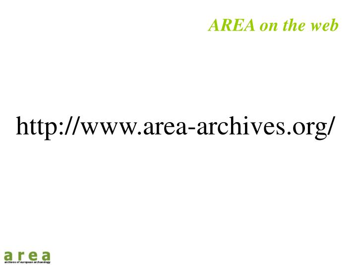 AREA on the web
