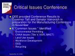critical issues conference