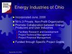 energy industries of ohio