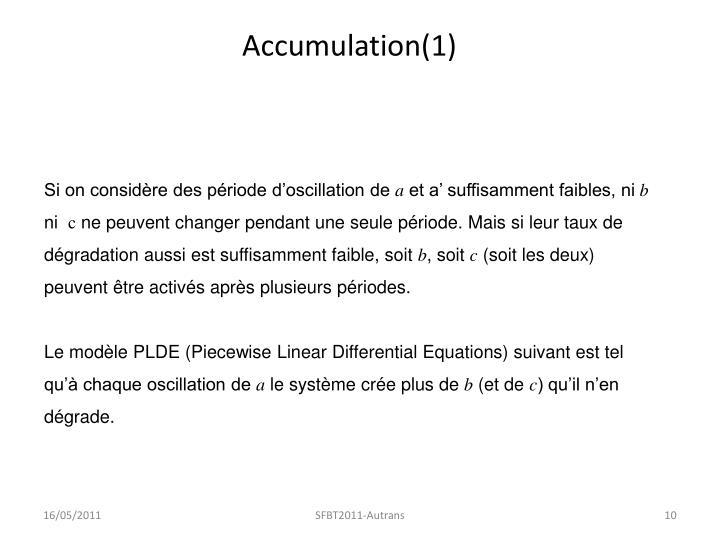 Accumulation(1)