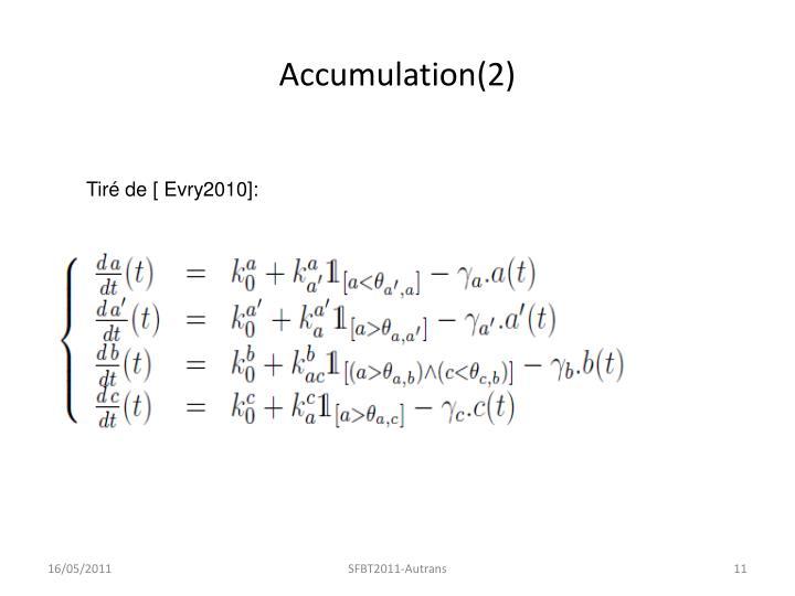 Accumulation(2)