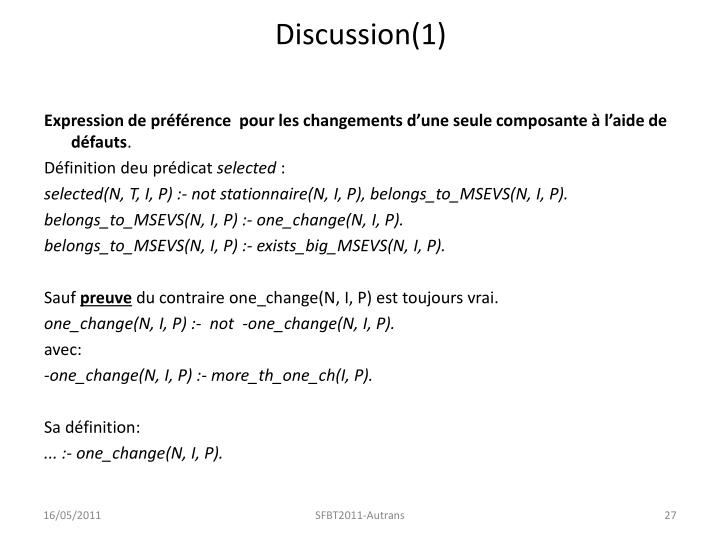 Discussion(1)