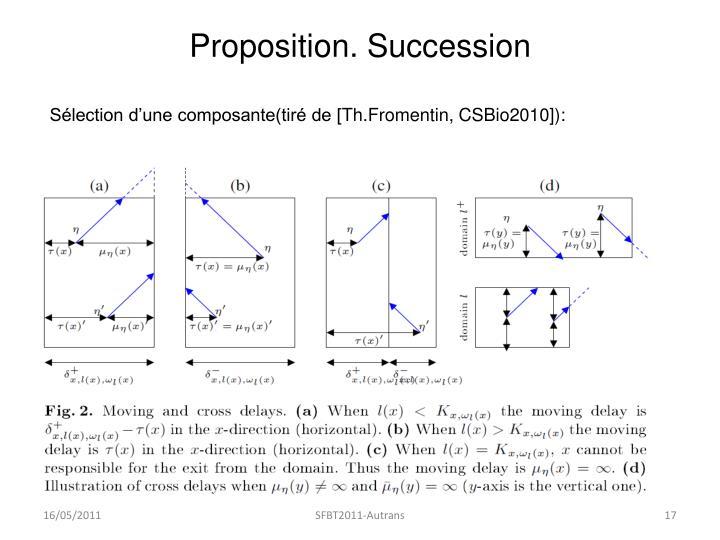 Proposition. Succession