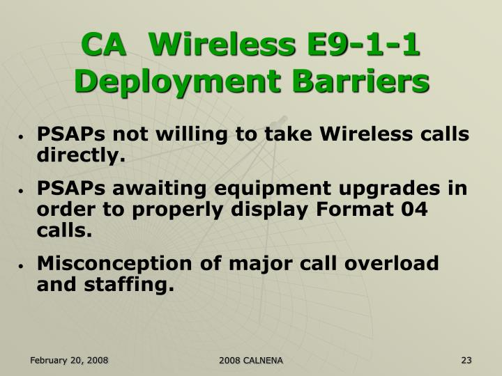 CA  Wireless E9-1-1