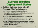 current wireless deployment status