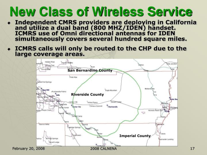 New Class of Wireless Service