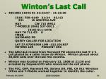 winton s last call