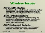 wireless issues