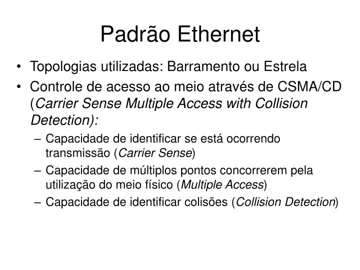 Padrão Ethernet