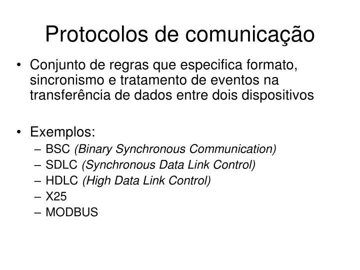 Protocolos de comunicação
