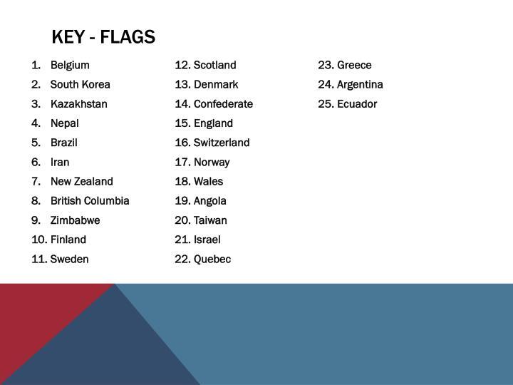 KEY - FLAGS