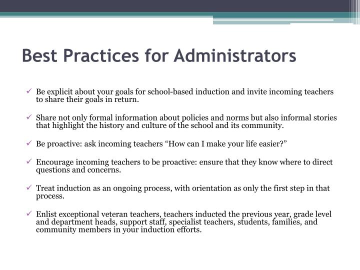 Best Practices for Administrators