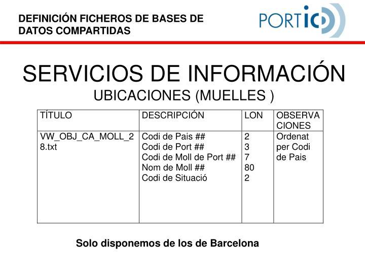SERVICIOS DE INFORMACIÓN