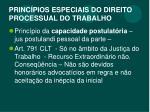 princ pios especiais do direito processual do trabalho1