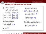 factor find the aos and the vertex2