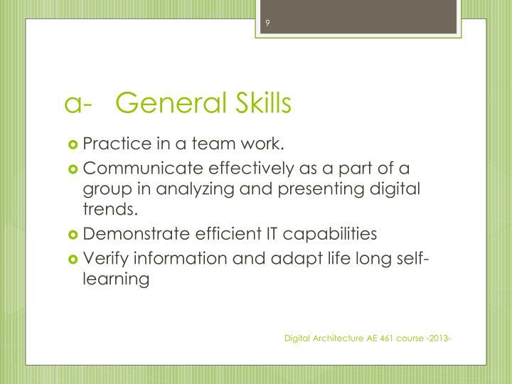 a-General Skills