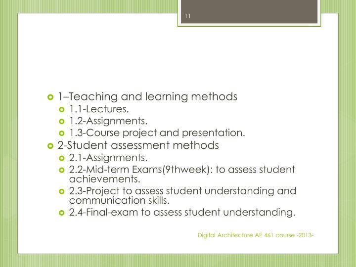 1–Teaching