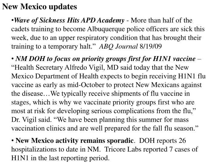 New Mexico updates